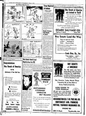 Northwest Arkansas Times from Fayetteville, Arkansas on February 6, 1952 · Page 18