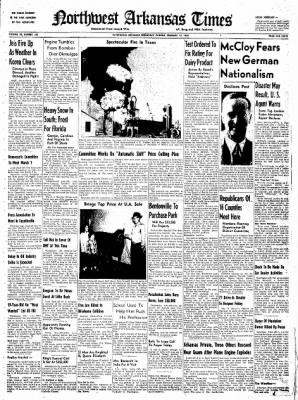 Northwest Arkansas Times from Fayetteville, Arkansas on February 27, 1952 · Page 1