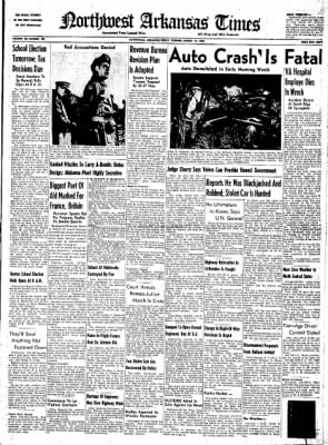 Northwest Arkansas Times from Fayetteville, Arkansas on March 14, 1952 · Page 1