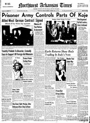 Northwest Arkansas Times from Fayetteville, Arkansas on May 26, 1952 · Page 1